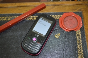 Mobile phone & sealing wax